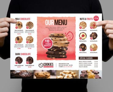 A3 Cookie Shop Poster Template