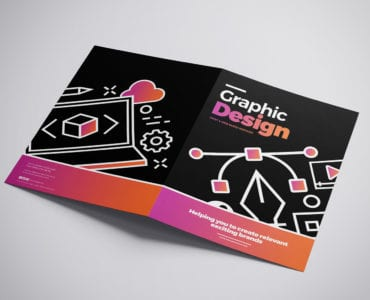 A3 Graphic Design Agency Brochure Template