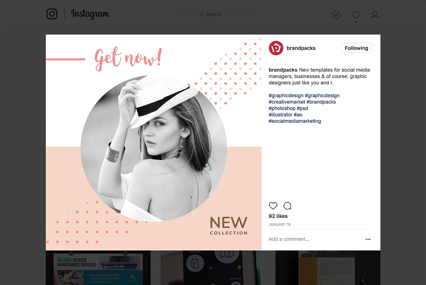 Instagram Templates for Fashion Brands