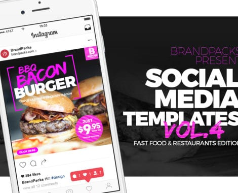 Fast Food Social Media Templates