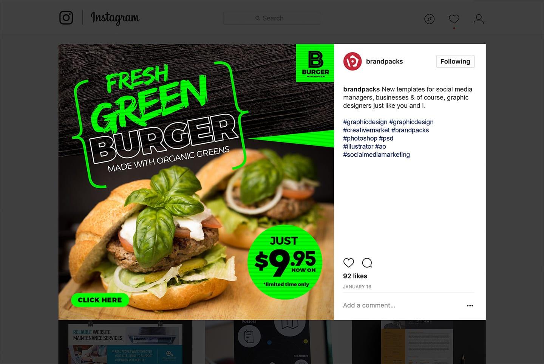 Fast Food Social Media Templates