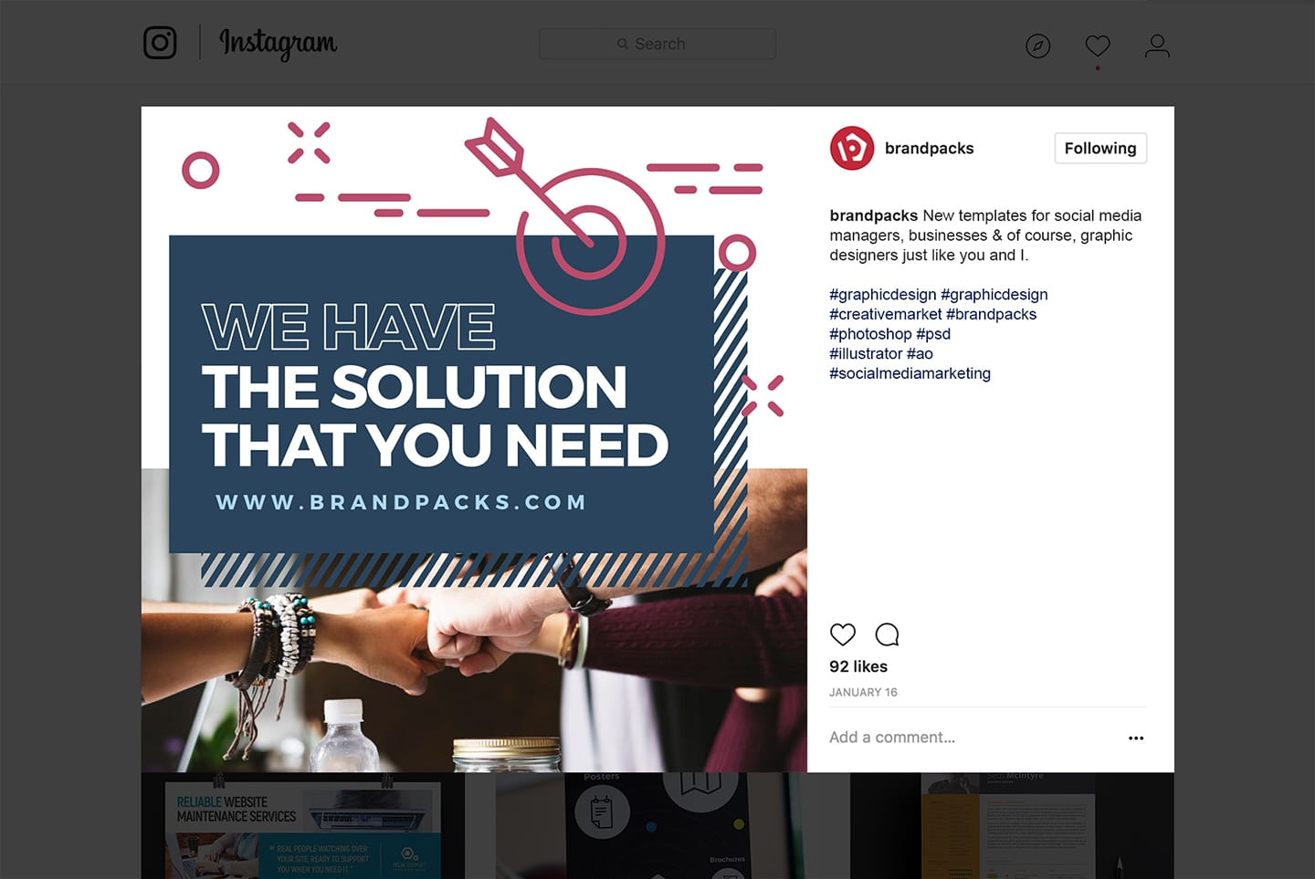 Instagram Templates for Businesses