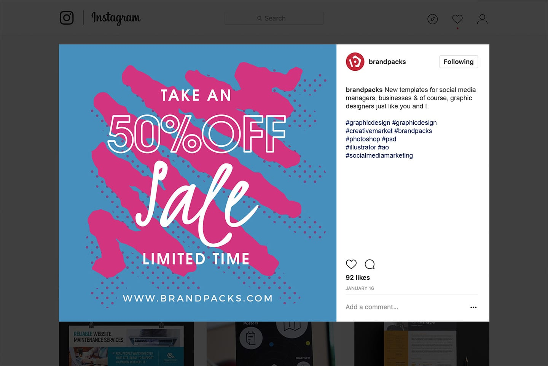Instagram Template for Photoshop & Illustrator