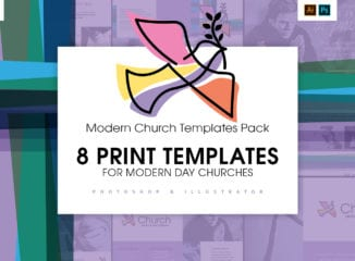 Modern Church Templates for Photoshop & Illustrator