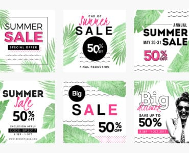 Summer Sale Social Media Templates