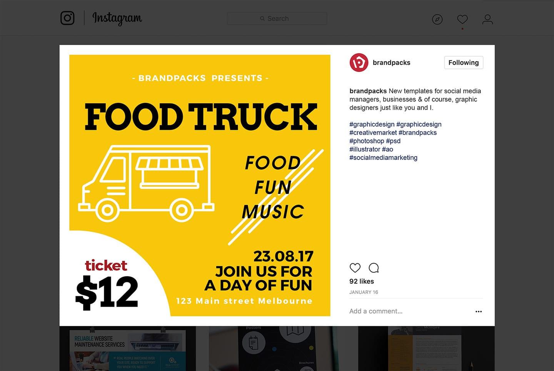Food Truck Social Media Templates