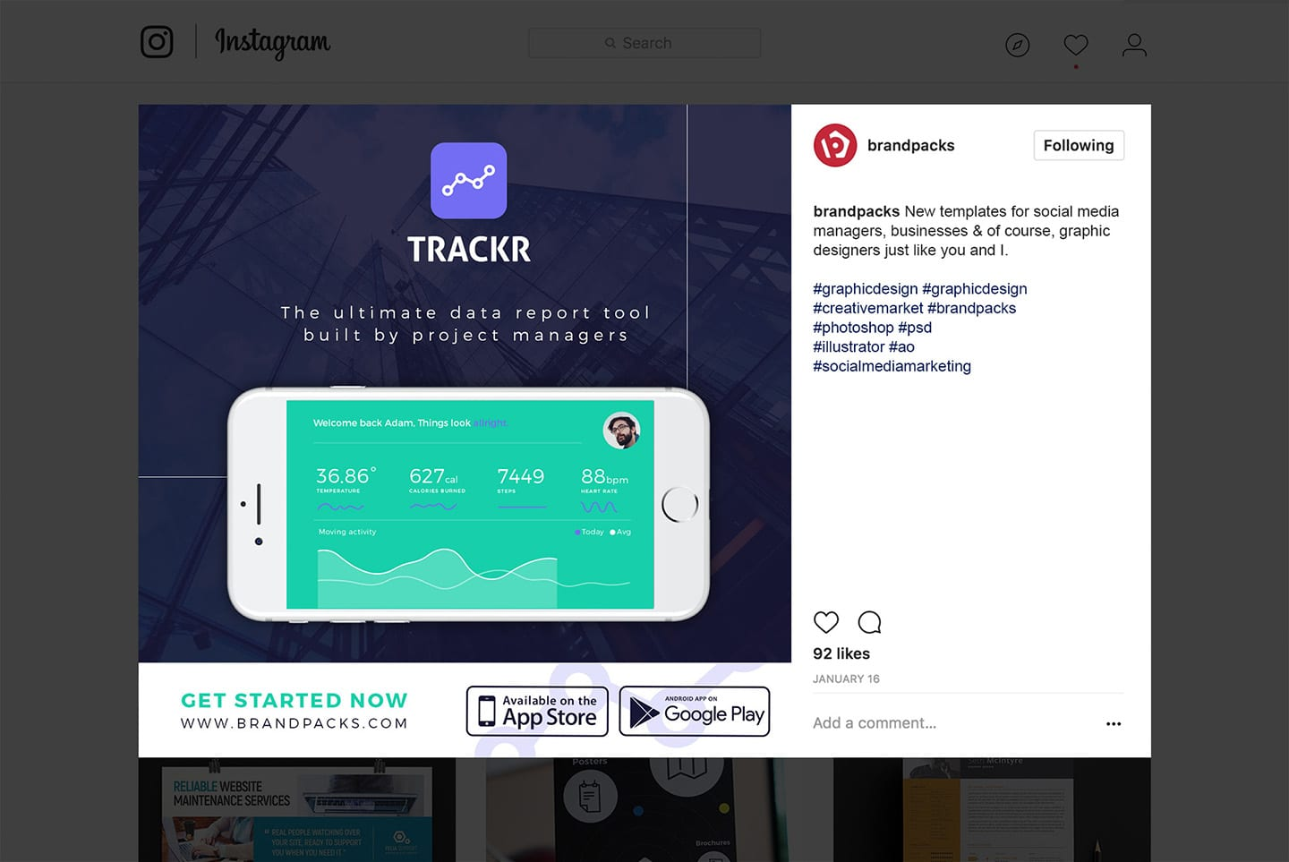 App Promotion Instagram Template