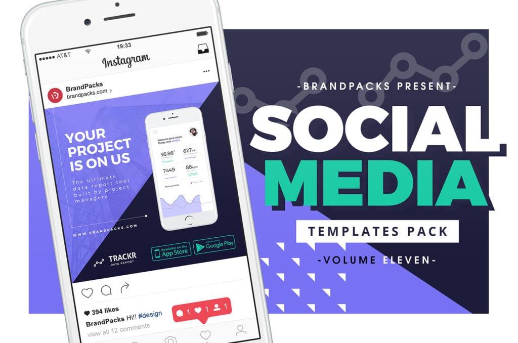 App Promotion Social Media Templates for Photoshop & Illustrator