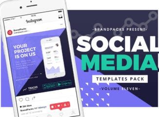 App Promotion Social Media Templates for Photoshop & Illustrator