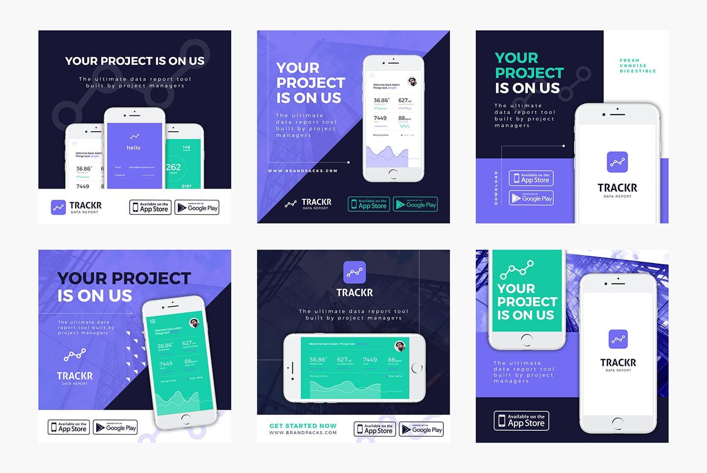 App Promotion Social Media Templates
