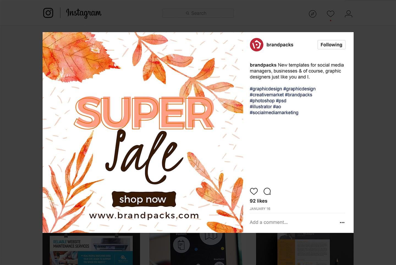 Autumn / Fall Social Media Templates Pack