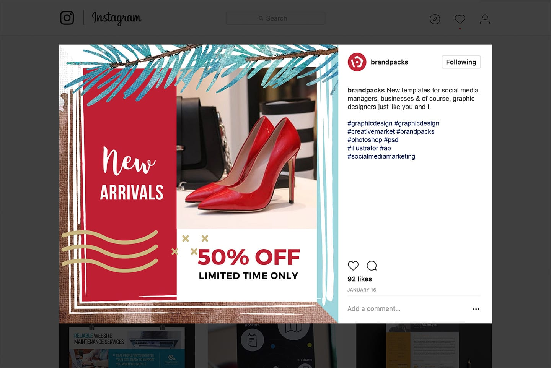 Christmas / Winter Sale Social Media Graphics