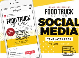 Food Truck Social Media Templates Pack