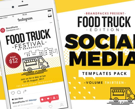 Food Truck Social Media Templates Pack