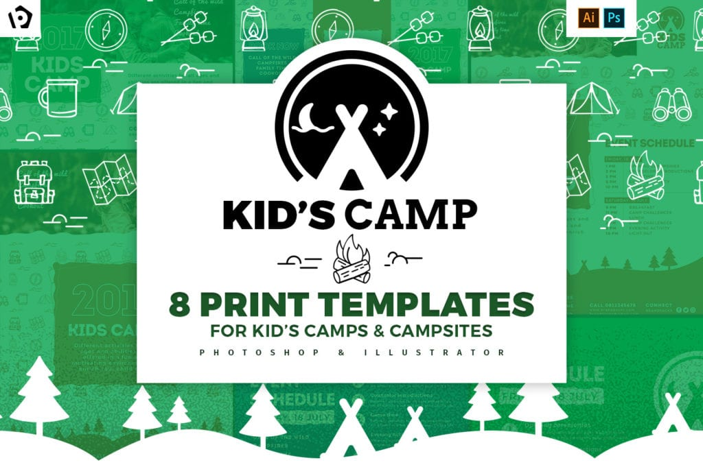 Kids Camp Templates Pack