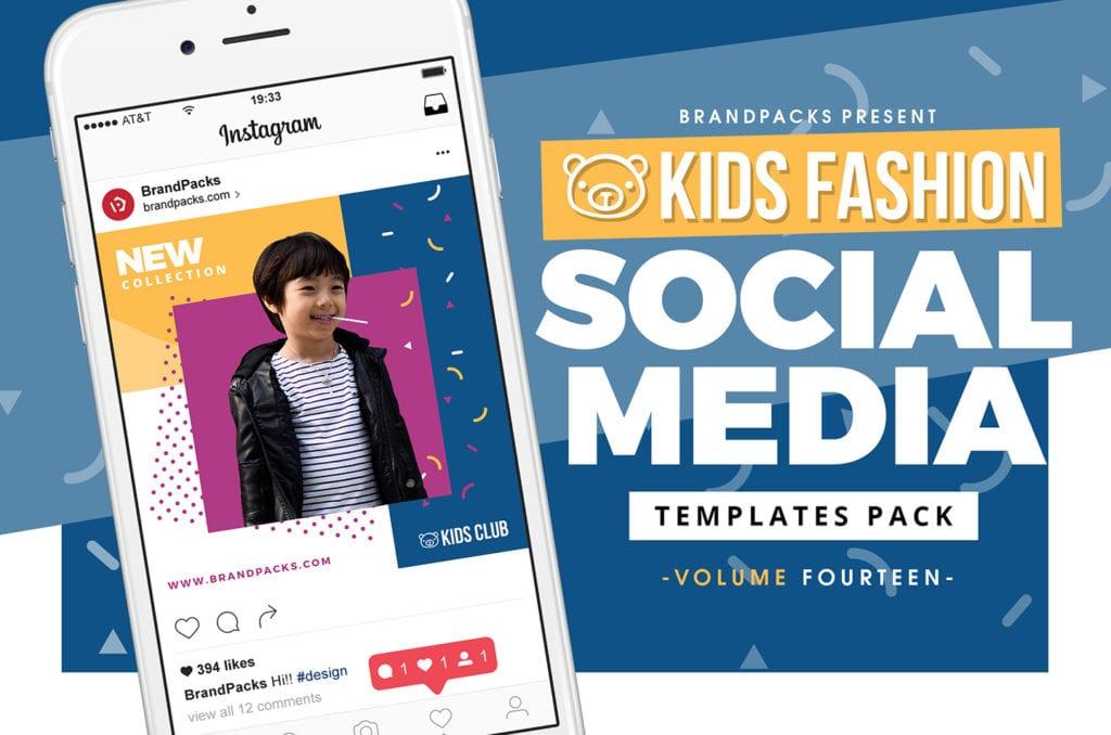 Kid's Fashion Social Media Templates