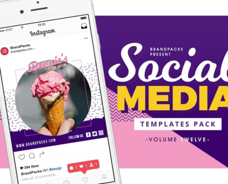 Ice Cream Social Media Templates
