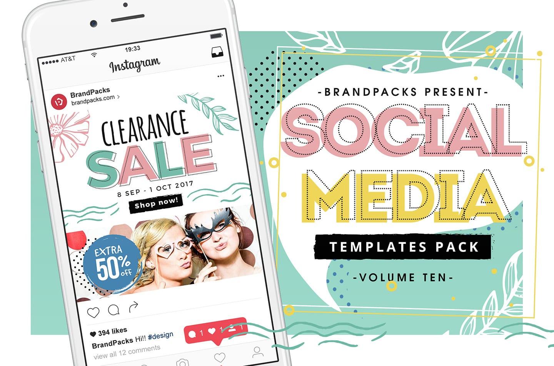 Spring Sale Social Media Template