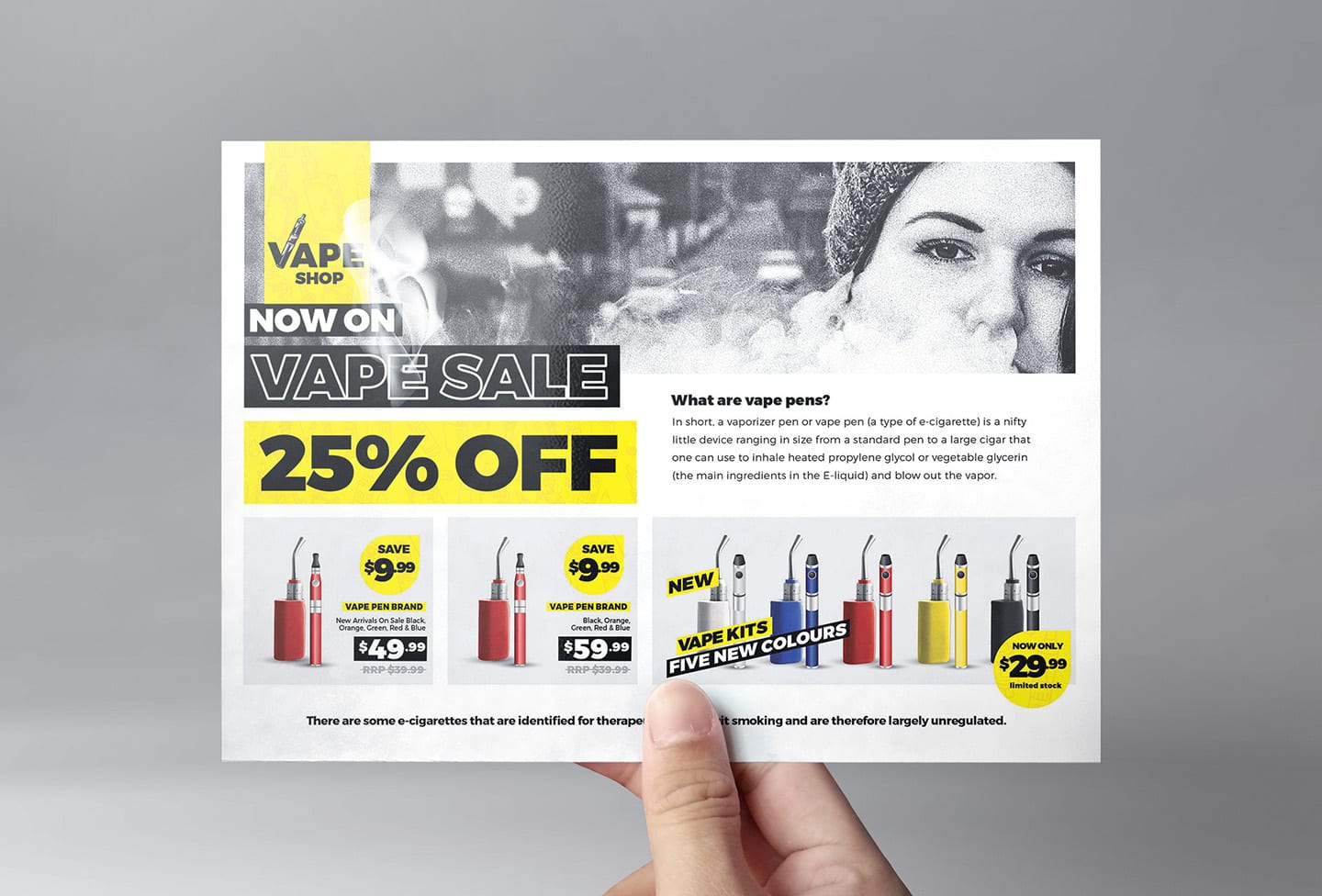 Vape Shop Flyer Template