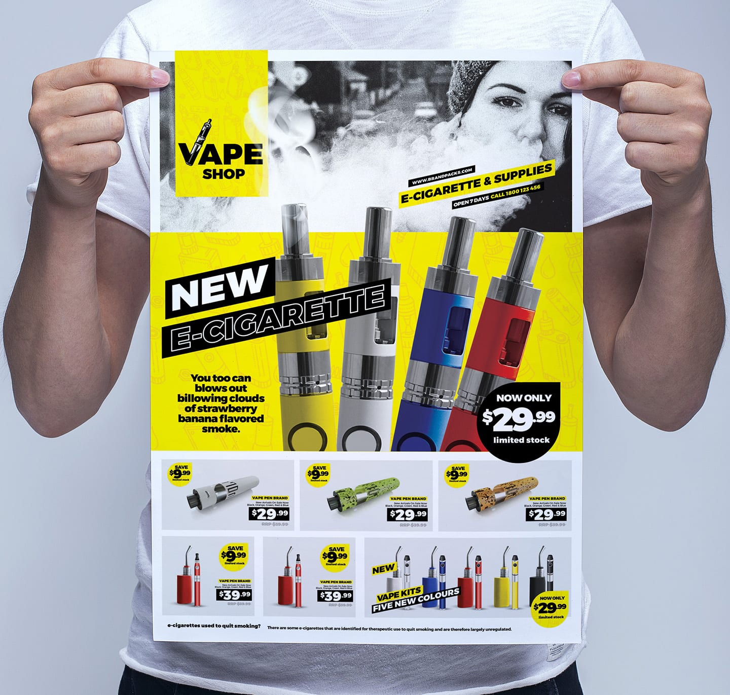 Vape Shop Poster Template