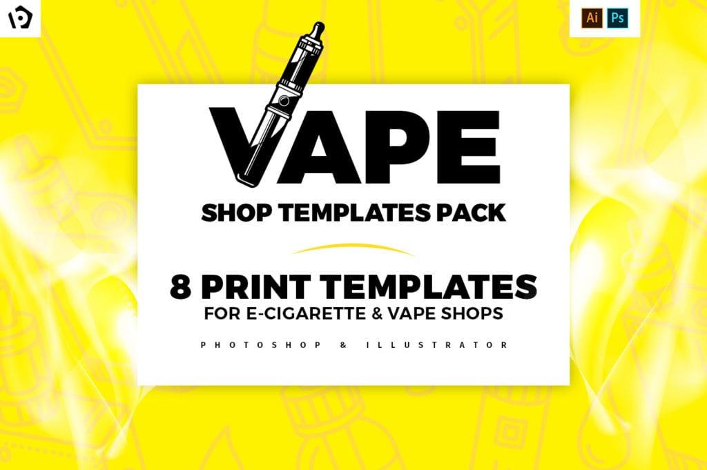 Vape Shop Templates Pack by BrandPacks