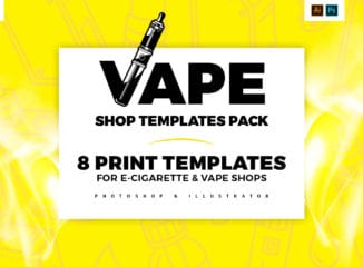 Vape Shop Templates Pack by BrandPacks