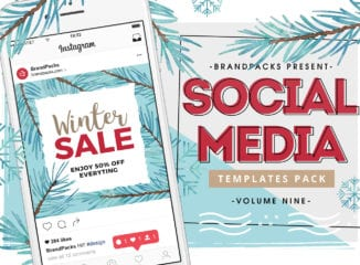 Winter / Christmas Sale Instagram Templates Pack