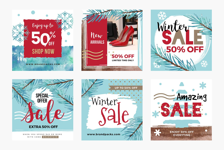 Winter Sale Social Media Templates