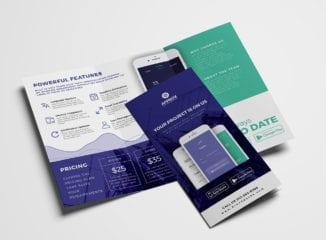 Mobile App Tri-Fold Brochure Template
