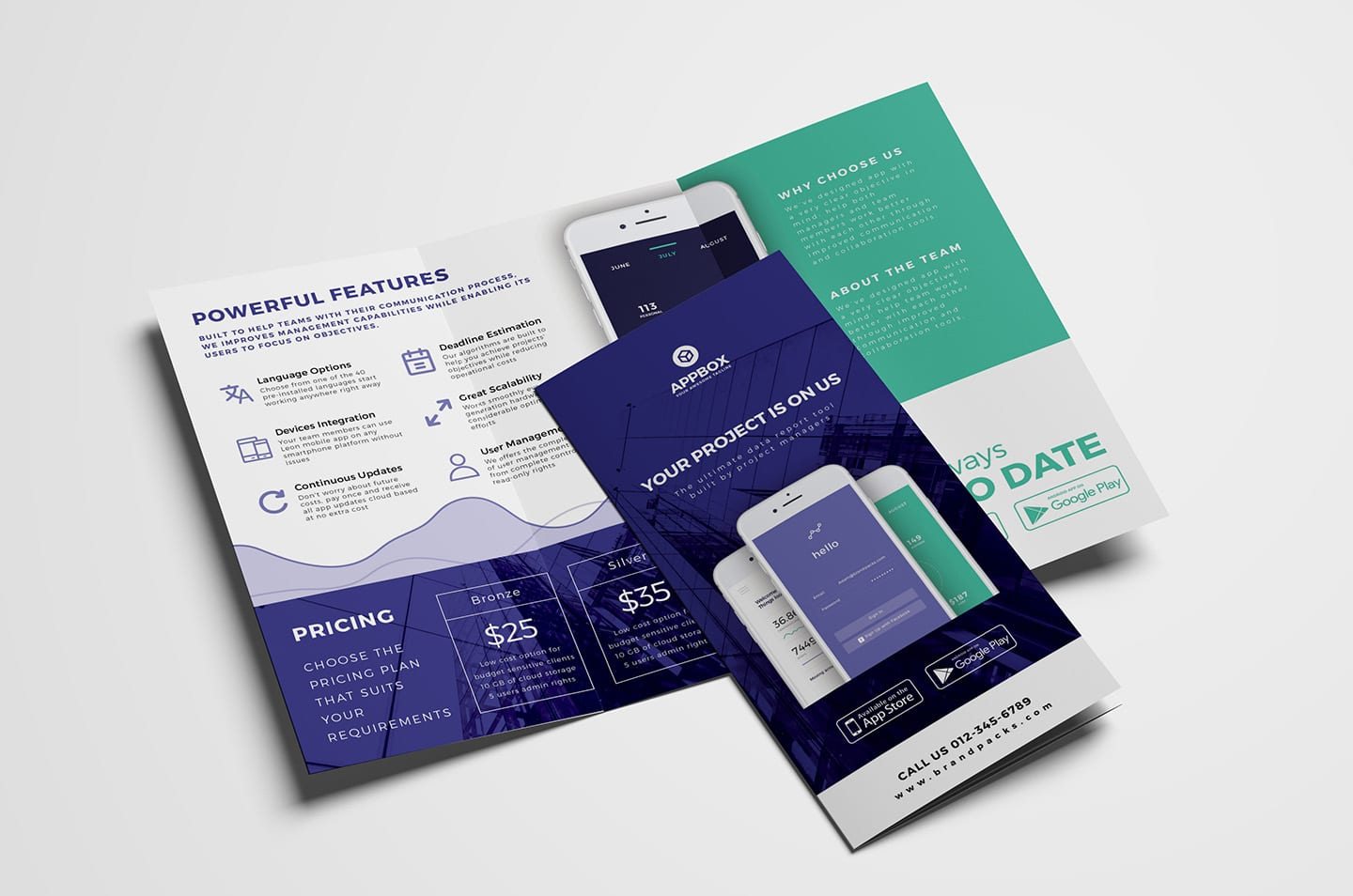 Mobile App Tri-Fold Brochure Template