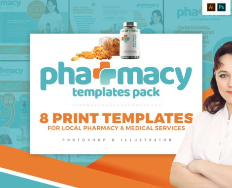 Pharmacy Templates Pack - PSD, Ai & Vector