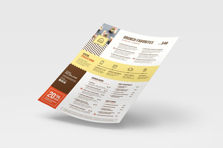 catering service menu template - psd  ai  u0026 vector
