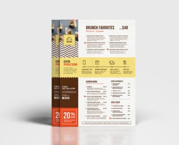 A4 Catering Service Menu Template