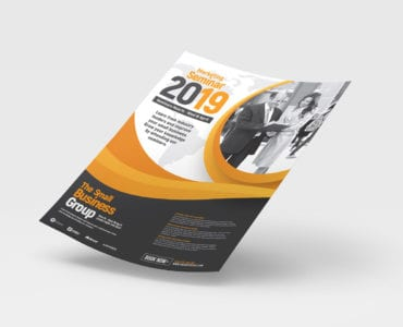 A4 Marketing Seminar Advertisement Template