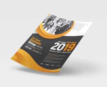 A4 Marketing Seminar Poster Template