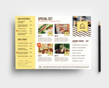 A5 Catering Service Flyer Template