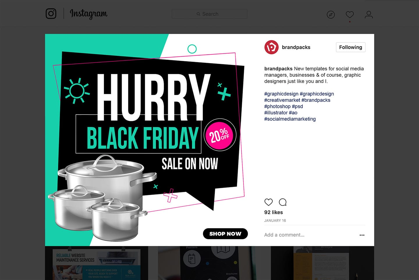 Black Friday Social Media Templates