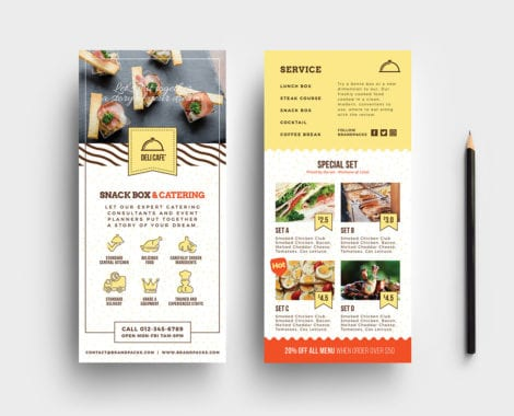 Catering Service DL Card Template