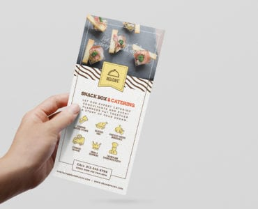 Catering Service Rack Card Template
