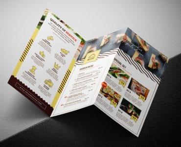 Catering Service Tri-Fold Brochure Template
