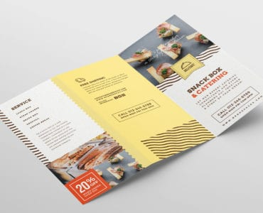 Catering Service Tri-Fold Brochure Template