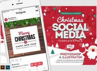 Christmas Social Media Templates