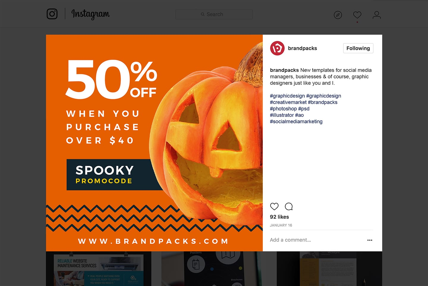 Halloween Social Media Templates