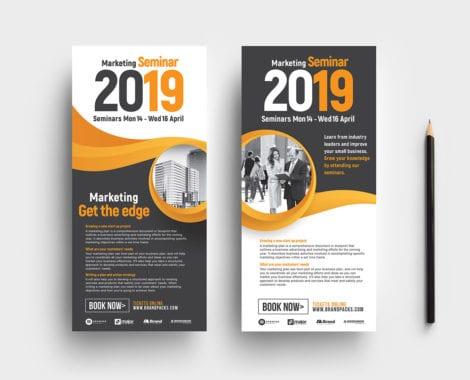 Marketing Seminar DL Card Templates
