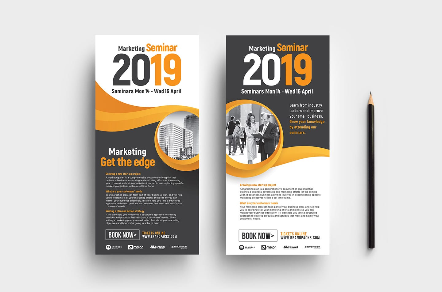 Marketing Seminar DL Card Templates