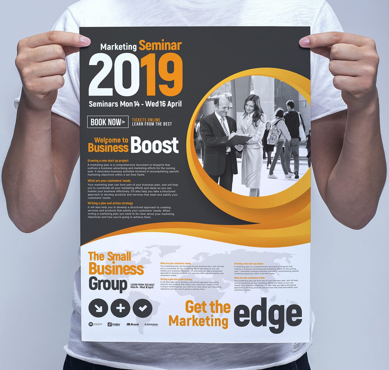 Marketing Seminar Poster Template