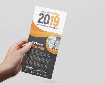 Marketing Seminar Rack Card Template
