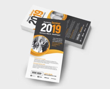 Marketing Seminar Rack Card Templates