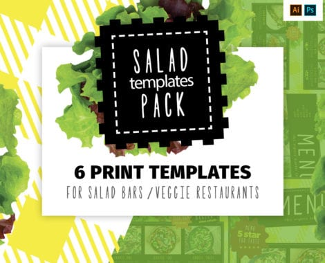 Salad Menu Templates Pack