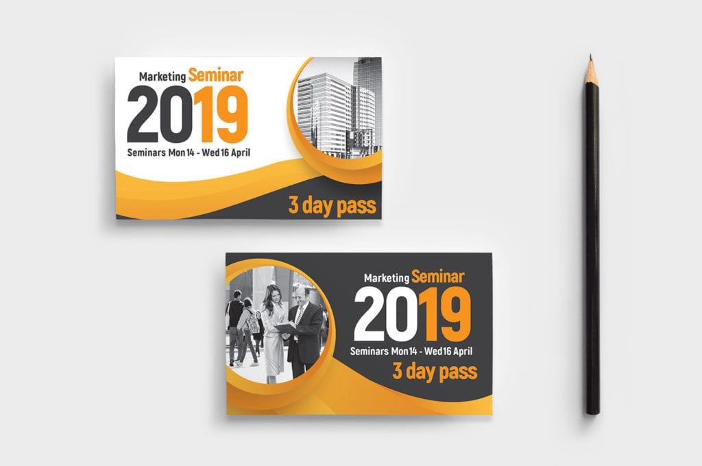 Seminar Business Card Template